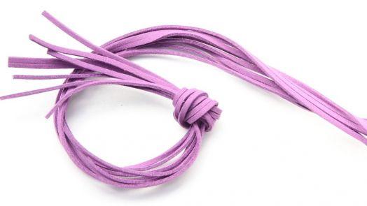 Шнур замшевый, 3*2 мм, Цвет №41, Сиреневый, 1 м/упак