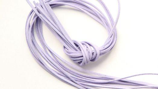 Шнур замшевый, 3*2 мм, Цвет №39, Светло-сиреневый, 1 м/упак