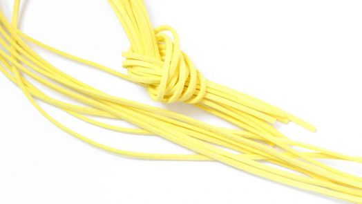 Шнур замшевый, 3*2 мм, Цвет №22, Светло-желтый, 1 м/упак