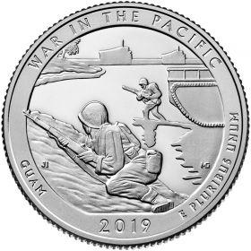 Военный мемориальный парк (Остров Гуам) 25 центов США 2019 Двор на выбор