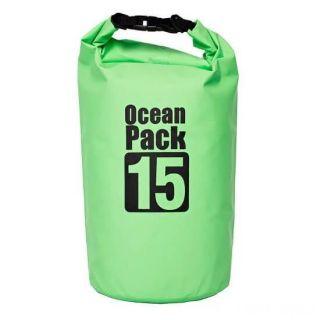 Водонепроницаемая сумка-мешок Ocean Pack, 15 L, Цвет: Зеленый