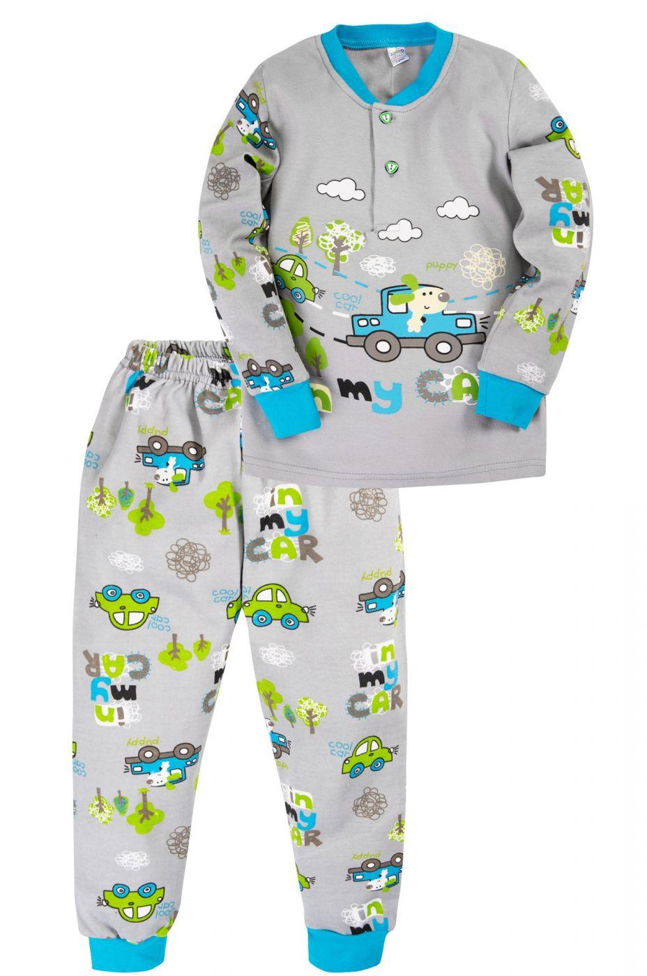 Пижама для мальчика Bonito серая cool car