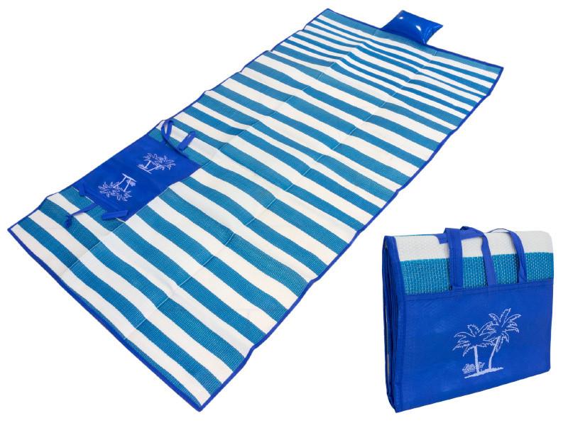 Пляжный Коврик С Ручками Для Переноски, 120х170 См, Цвет Синий