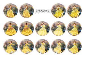 "`Картинки для эпоксидного слоя, размер 1""(25,4мм), фотобумага (1 лист = 14 картинок), Арт. Р-ЗНЮ0054-2"