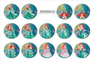 """Картинки для эпоксидного слоя, размер 1""""(25,4мм), фотобумага (1уп = 3 листа по 14 карт.), Арт. ЗНЮ0052-2"""