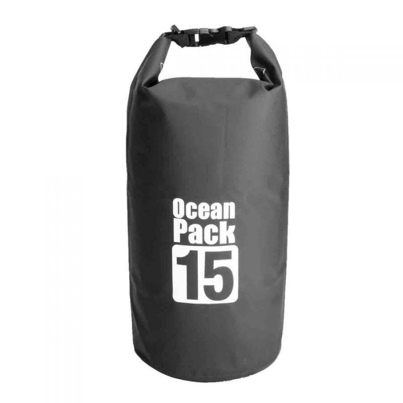 Водонепроницаемая Сумка-Мешок Ocean Pack, 15 L, Цвет Черный
