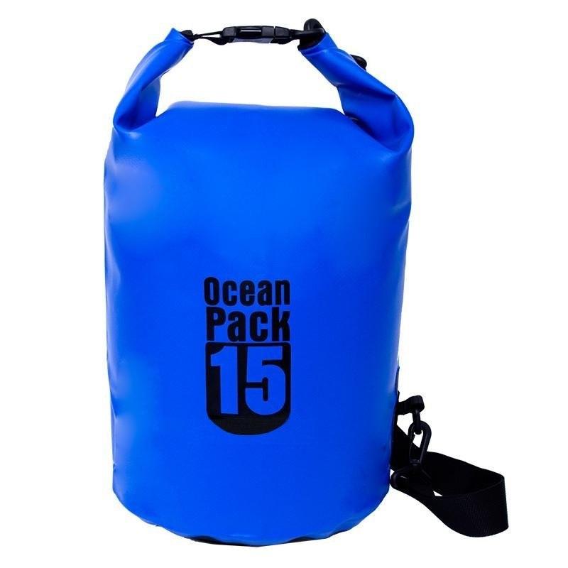 Водонепроницаемая Сумка-Мешок Ocean Pack, 15 L, Цвет Синий