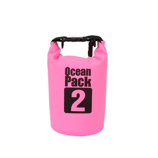 Водонепроницаемая Сумка-Мешок Ocean Pack, 2 L, Цвет Розовый