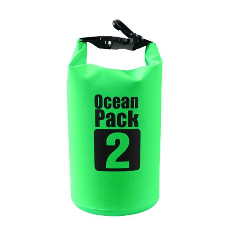 Водонепроницаемая Сумка-Мешок Ocean Pack, 2 L, Цвет Зеленый