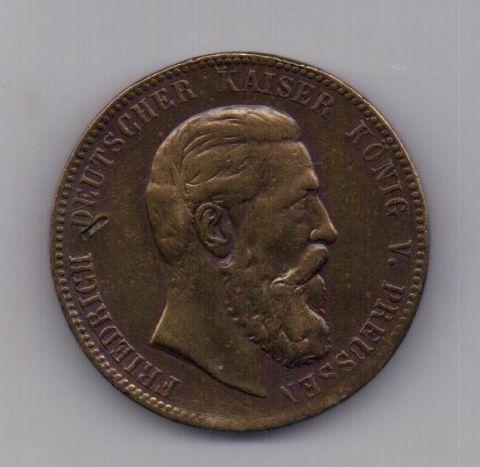 медаль 1888 года Пруссия Германия