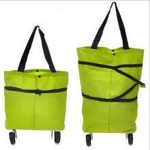 Складная сумка на колесиках, Цвет: Зелёный