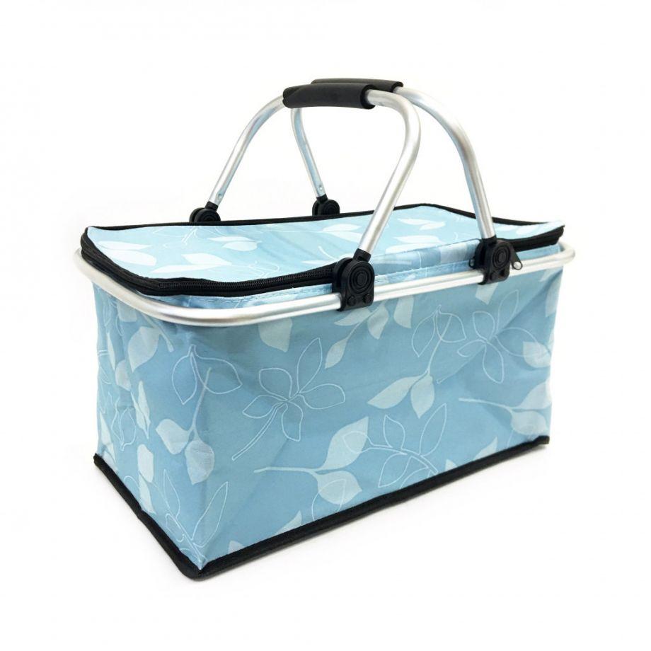 Термокорзина для покупок и пикника, 29 л., Цвет Голубой