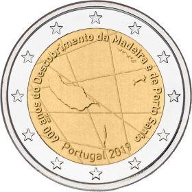 600 лет со дня открытия архипелага Мадейра 2 евро Португалия 2019