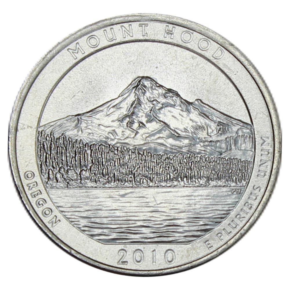 25 центов 2010 США Национальный лес Маунд Худ P