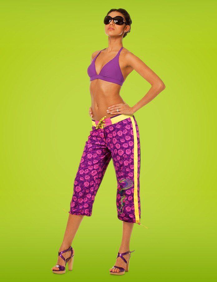 Шорты пляжные для женщин Charmante LCH071102 Poison - 2 фиолетовый DSK S