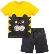 Костюм для мальчика 1-4 лет Bonito желтый с мордочкой тигра