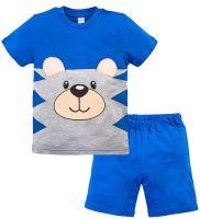 Костюм для мальчика 1-4 лет Bonito синий с мордочкой мишки