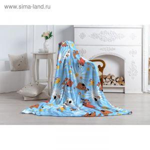 "Плед ""Павлинка"" МимиМишки, 150х100, цвет голубой, аэрософт 190гм, пэ100%"
