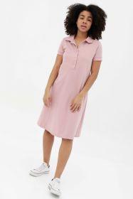 Платье - поло пудрово-розовое арт 398.1.1