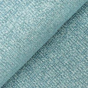 Лоскут трикотажной ткани кашкорсе  Голубой с люрексом