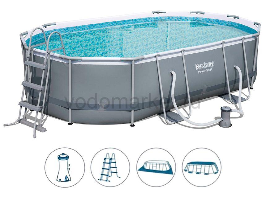 488х305х107 см (56448) Bestway каркасный бассейн