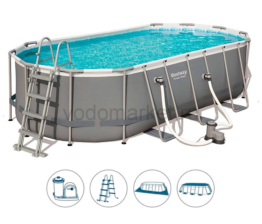 549х274х122 см (56710) Bestway каркасный бассейн