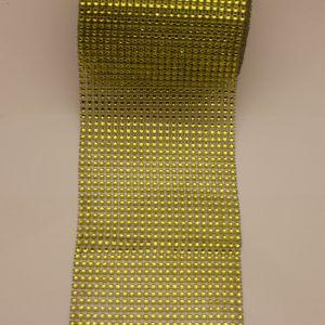 """Лента декоративная """"имитация страз"""", ширина 12 см, длина 10 ярдов, цвет: 12 лайм"""