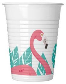 Стаканы пластиковый Розовый Фламинго