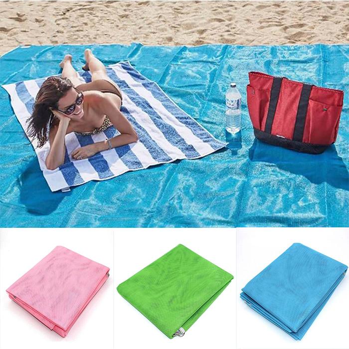 Пляжный коврик подстилка антипесок 200x150 см Sand Free Mat