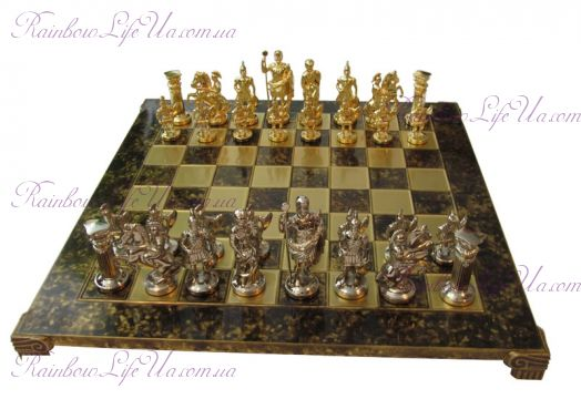 "Шахматы Греко-римские brown ""Manopoulos"""