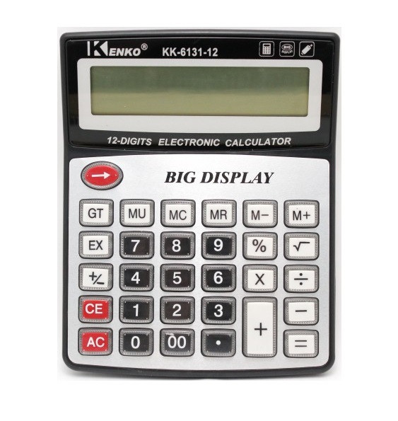Настольный 12-Разрядный Калькулятор На Батарейках KENKO KK-6131-12