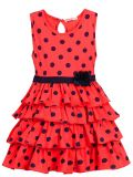 Платье на девочки Bonito красное в горошек