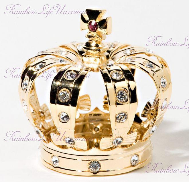 "Фигурка корона с камнями ""Swarovski"""