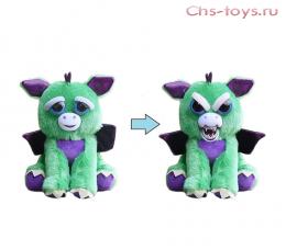 Игрушка Feisty Pets Дракон зеленый с крыльями