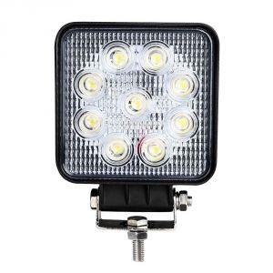 Квадратная светодиодная LED фара дальнего света 27W