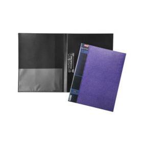 Папка Пластиковая Hatber А4ф с метал. прижимом корешок 17 мм WOOD 700мкм- Фиолетовая (арт. AC4_02220)
