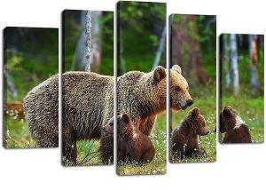 Модульная картина Семейство медведей