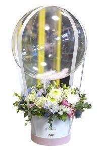 Шляпная коробка с воздушным шаром