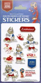 Стикеры Волк Забивака  ЧМ Чемпионат мира по футболу FIFA RUSSIA 2018 года