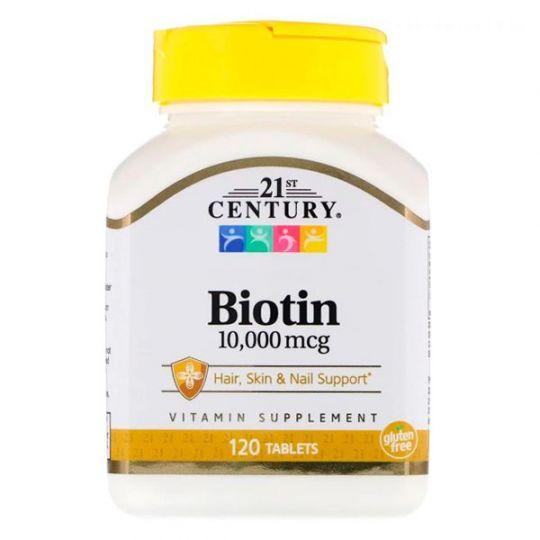 Биотин 10000 мкг 21-th Century (120 таблеток)