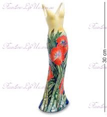 "Ваза дамское платье flowers ""Pavone"""