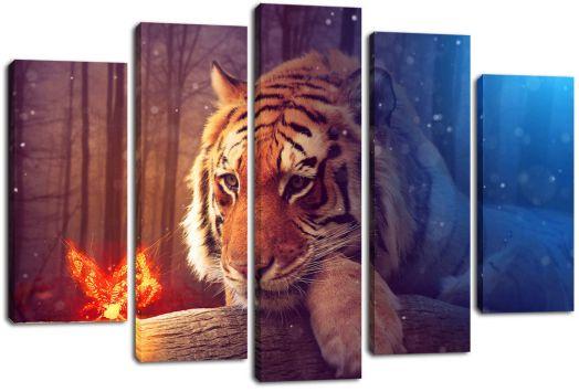 Модульная картина Грустный тигр