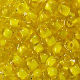Бисер чешский 38386 прозрачный желтая линия внутри Preciosa 1 сорт