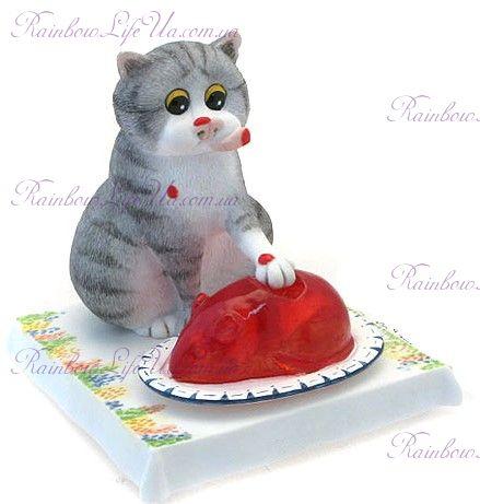 "Статуэтка кот вкусное желе ""Enesco"""