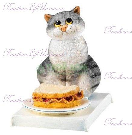 "Статуэтка кот сэндвич мяу ""Enesco"""