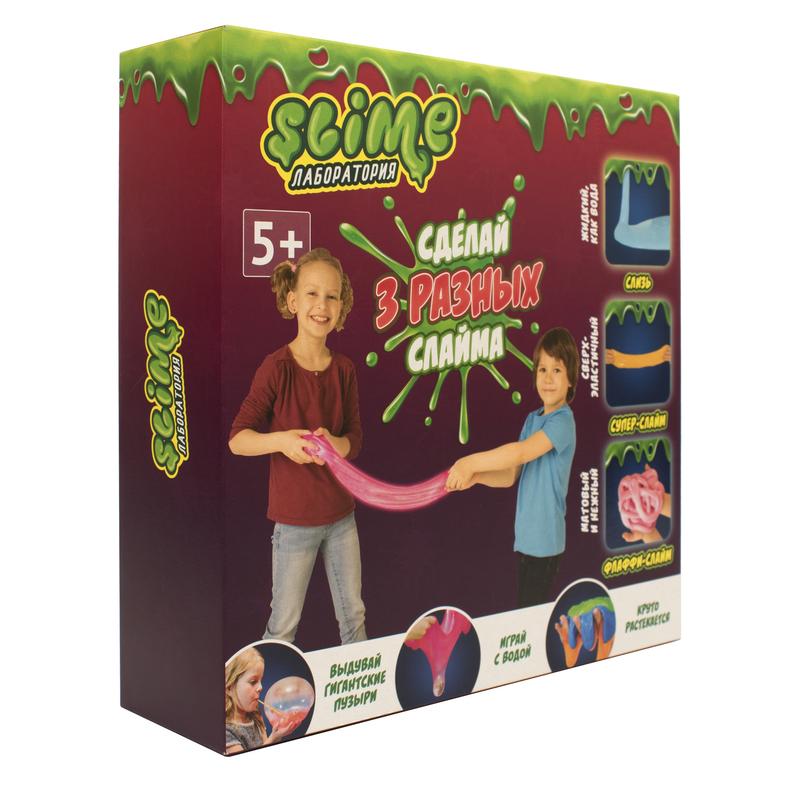 """Slime Лаборатория """"3 разных слайма"""""""