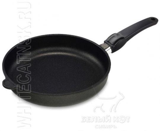 Сковорода 24 х 5 см Lotan с крышкой и съёмной ручкой