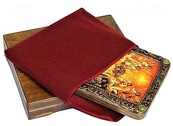 Инкрустированная настольная икона Воскресение Христово - Пасха (20*15 см, Россия) на натуральном мореном дубе, в подарочной коробке