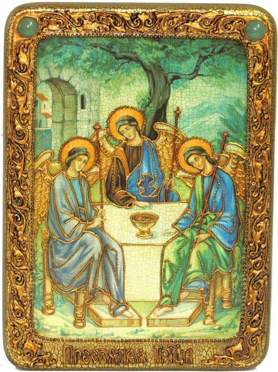 """Подарочная икона """"Троица"""" на мореном дубе"""