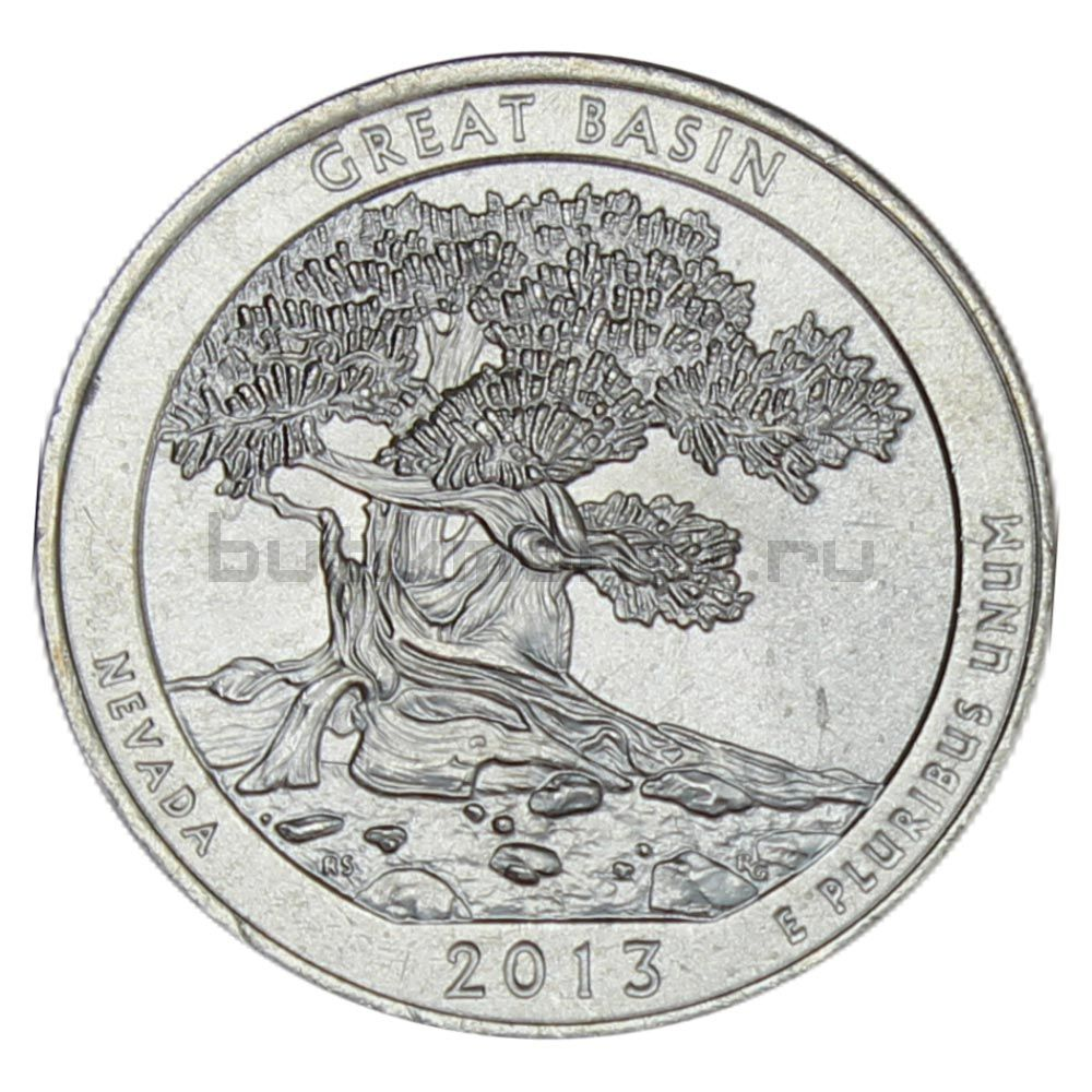 25 центов 2013 США Национальный парк Грейт-Бейсин P